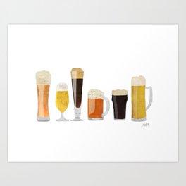 Beer Mugs Art Print