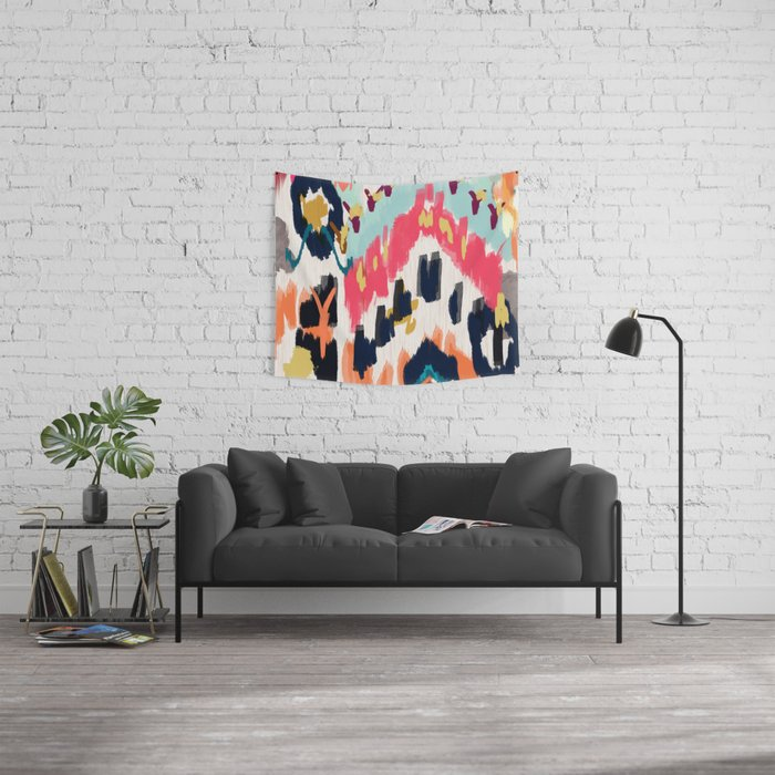 Bohemian Tribal Painting Wall Tapestry