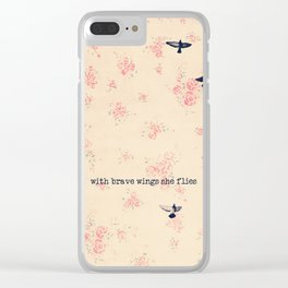 she flies Clear iPhone Case