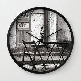 Just Two Chairs of Catania in Sicily Wall Clock