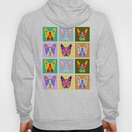 Boston Terrier Pop Art Hoody