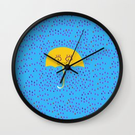 Dr. Umbrella - PhD in Rain Studies Wall Clock