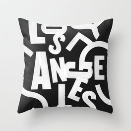 Los Angeles Routes Throw Pillow