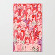 Girl Crowd Canvas Print