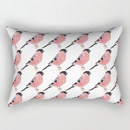 Siberian Bullfinch (white palette) Rectangular Pillow