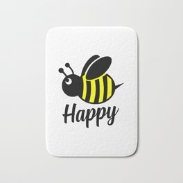 Bee happy feel good Design Bath Mat