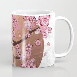 Blooming Sakura Branch on marble Coffee Mug