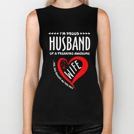 Husband T-Shirt Freaking Awesome Wife Gift Anniversary Shirt Biker Tank