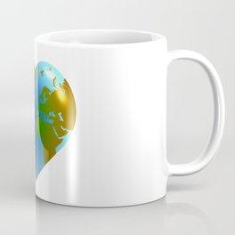 Globe in the shape of heart Coffee Mug