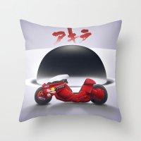 akira Throw Pillows featuring AKIRA by vsMJ