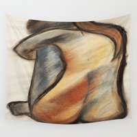 alone Wall Tapestries featuring Alone by Tiffany Saffle