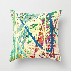 An Homage to Pollock Throw Pillow