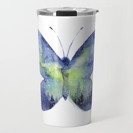 Space Butterfly - Blue Green Travel Mug