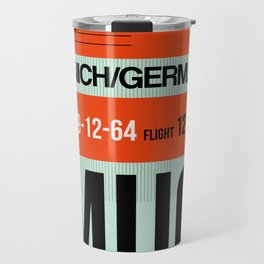 MUC Munich Luggage Tag 2 Travel Mug