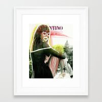 valentina Framed Art Prints featuring VALENTINA by Rayane Guedes XII