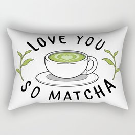 Love So Matcha Rectangular Pillow