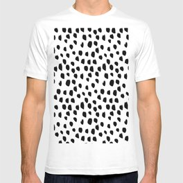 Hand drawn drops and dots on white - Mix & Match with Simplicty of life T-shirt
