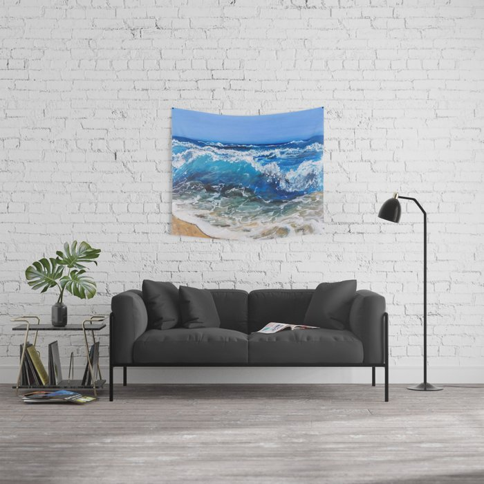 Rough Sea Wall Tapestry