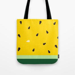 Watermelon in Yellow | Watermelon Seed | Watermelon Home Decor | pulps of wood Tote Bag