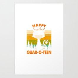 Cancel 2020 Halloween Quarantine Happy Quar-O-teen Cat Mask T-Shirt Art Print