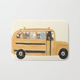 little yellow bus Bath Mat