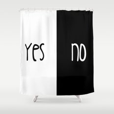 Yes/No Shower Curtain