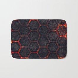 Lava Hexagons Bath Mat