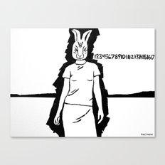 Rabbit girl.  Canvas Print