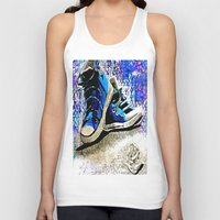 converse Tank Tops featuring Converse Blues by Frankie Luna III