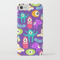 monsters iPhone & iPod Cases featuring monsters by Ceren Aksu Dikenci