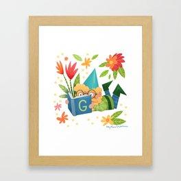 Book Gnome Framed Art Print