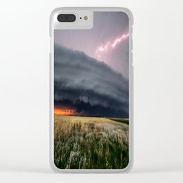 Steamroller - Storm Spans the Kansas Horizon Clear iPhone Case