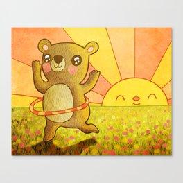 Hula Bear Canvas Print