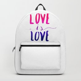 Love is Love - bi Backpack