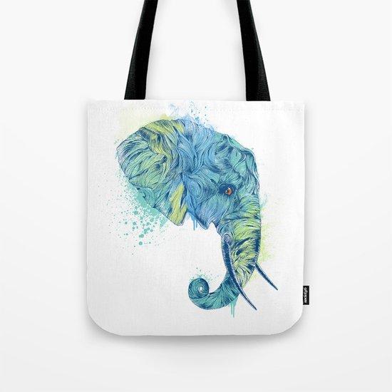 Elephant Head II Tote Bag
