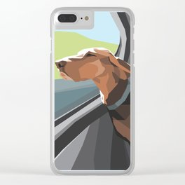 Hound in the Sunshine Clear iPhone Case