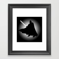 Vader Sithouette (B/W) Framed Art Print