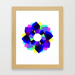 Techno Dudes Flower 2 (blue) Framed Art Print