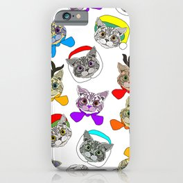 Holiday Festive Party Cats iPhone Case