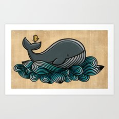 Tale of a Whale Art Print