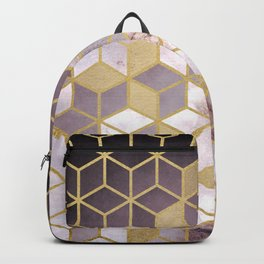 Shades Of Pink Cubes Pattern Backpack
