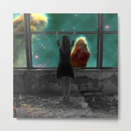 Window to Another World Metal Print