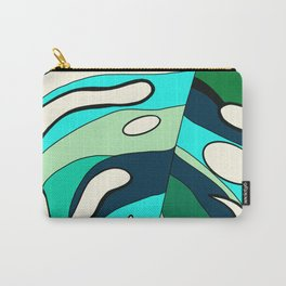 Blue cool monstera plant Carry-All Pouch