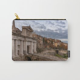 Side view of Porta San Giacomo and the walls of the upper city of Bergamo Carry-All Pouch