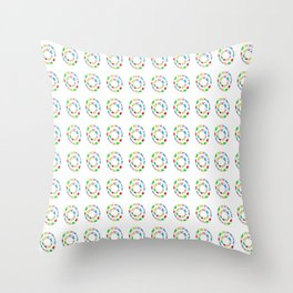 Circle and abstraction 11- blue abstract,geometric,geometrical,circle,sphere Throw Pillow