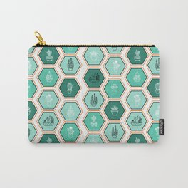 Cactus Print Carry-All Pouch