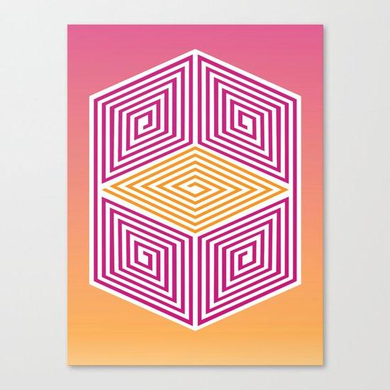 Geometric lines Canvas Print
