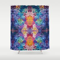 notebook Shower Curtains featuring Guardian's Notebook by Tanya Shatseva