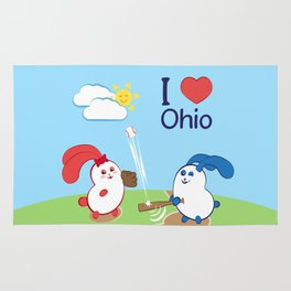 Ernest and Coraline | I love Ohio Rug