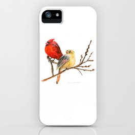 The Perfect Pair - Male and Female Cardinal by Teresa Thompson iPhone Case